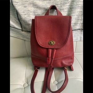 Vintage Red Coach Backpack